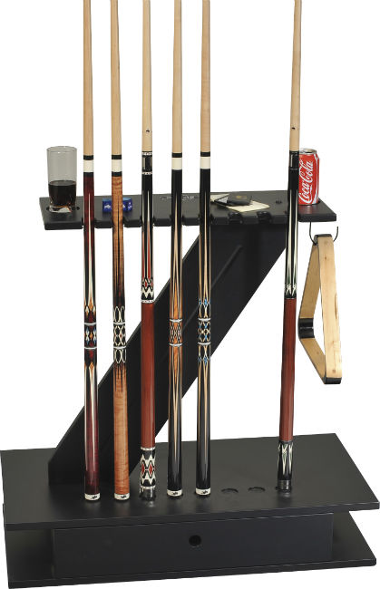 Stunningly Contemporary Z Cue Stand In Black Holds 8